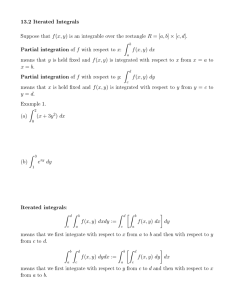 13.2 Iterated Integrals ˆ