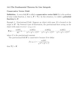 14.3 The Fundamental Theorem for Line Integrals Conservative Vector Field