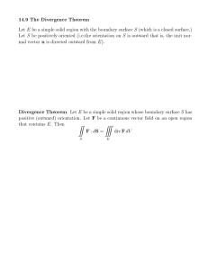 14.9 The Divergence Theorem