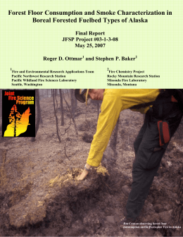 Forest Floor Consumption and Smoke Characterization in Final Report