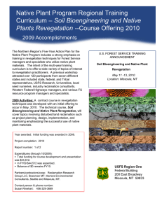Native Plant Program Regional Training Title text here Soil Bioengineering and Native