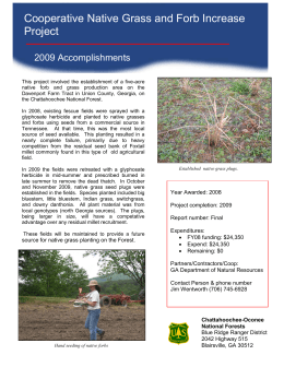 Cooperative Native Grass and Forb Increase Project 2009 Accomplishments