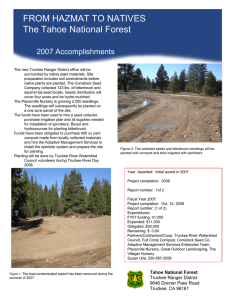 FROM HAZMAT TO NATIVES Title text here The Tahoe National Forest 2007 Accomplishments