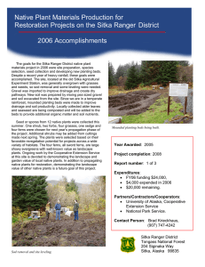 Native Plant Materials Production for 2006 Accomplishments