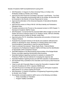 Senate of Academic Staff Accomplishments for spring 2015