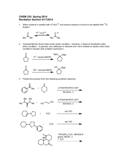 CHEM 332: Spring 2014 Recitation Section 4/17/2014 H /