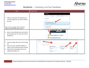 Students – Checking LiveText Feedback Technology Services Task