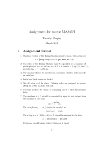Assignment for course MA346H 1 Assignment format Timothy Murphy