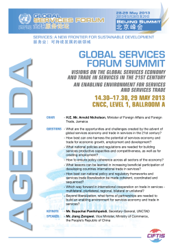 GlobAl SErvicES ForUM SUMMiT