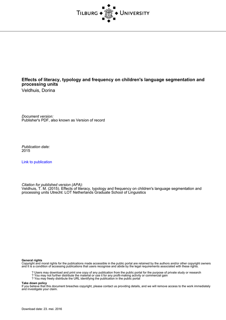 0b228d5559b Tilburg University processing units