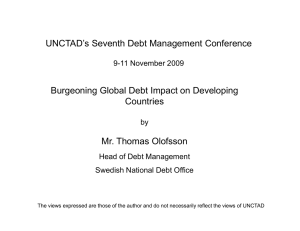 UNCTAD's Seventh Debt Management Conference Burgeoning Global Debt Impact on Developing Countries