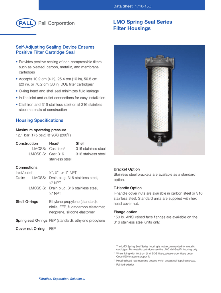 Substitute for Main Filter MF0576294 RADWELL VERIFIED SUBSTITUTE MF0576294-SUB Filter