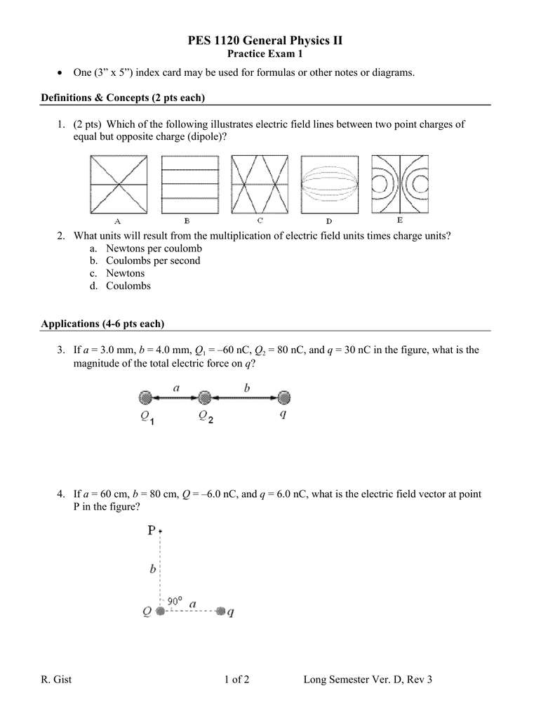 PES 1120 General Physics II