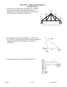 MAE 2103 – Engineering Mechanics I Practice Exam 2