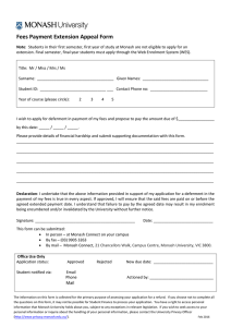Fees Payment Extension Appeal Form