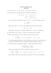 MA121, Homework #1 Solutions Show that the set A A