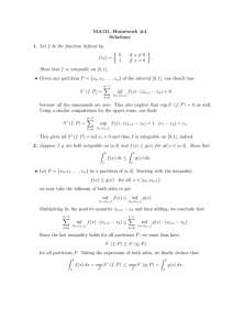 MA121, Homework #4 Solutions Let f be the function defined by ½