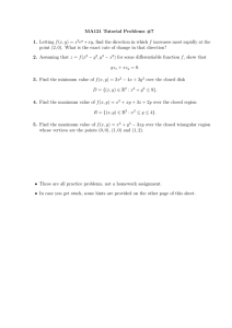 MA121 Tutorial Problems #7 f xy ,