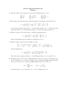 MA121 Tutorial Problems #6 Solutions
