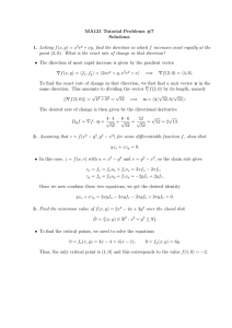 MA121 Tutorial Problems #7 Solutions Letting f