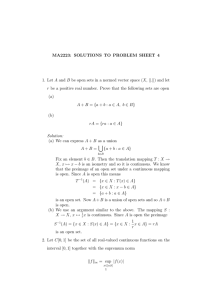 MA2223: SOLUTIONS TO PROBLEM SHEET 4 k.k) and let
