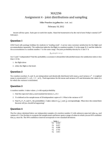 MA22S6 Assignment 4 - joint distributions and sampling  Mike Peardon (