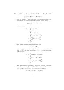 Problem Sheet 3 – Solutions