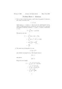 Problem Sheet 4 – Solutions
