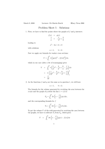 Problem Sheet 5 – Solutions