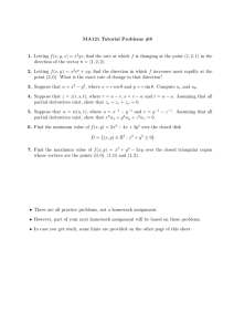 MA121 Tutorial Problems #8 f h xy