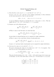 MA121 Tutorial Problems #2 Solutions Show that there exists some x