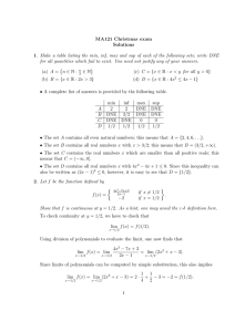 MA121 Christmas exam Solutions