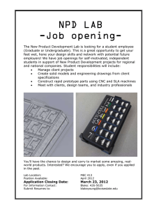 NPD LAB -Job opening-