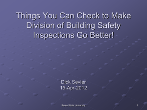 Things You Can Check to Make Division of Building Safety Dick Sevier