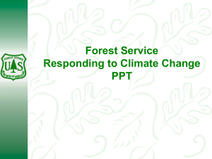 Forest Service Responding to Climate Change PPT