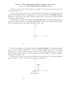 Chapter 11. Three-dimensional analytic geometry and vectors