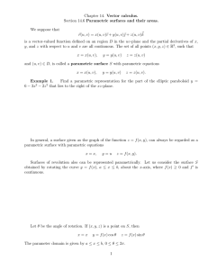 Chapter 14. Vector calculus. Section 14.6 Parametric surfaces and their areas. ~