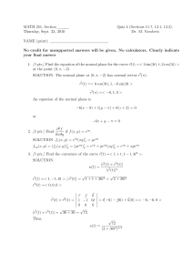 MATH 251, Section Quiz 4 (Sections 11.7, 12.1, 12.2). Dr. M. Vorobets