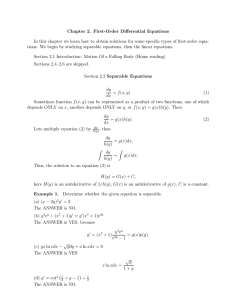 Chapter 2. First-Order Differential Equations