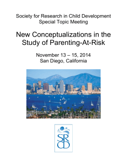 New Conceptualizations in the Study of Parenting-At-Risk