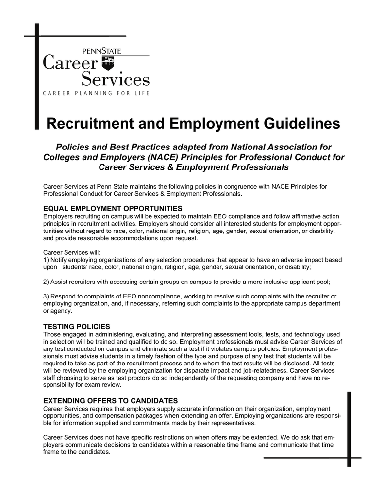 Reasonable Accommodations Extend To >> Recruitment And Employment Guidelines
