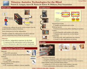 Trinetra: Assistive Technologies for the Blind Motivation Architecture