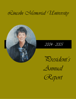 President's Annual Report Lincoln Memorial University