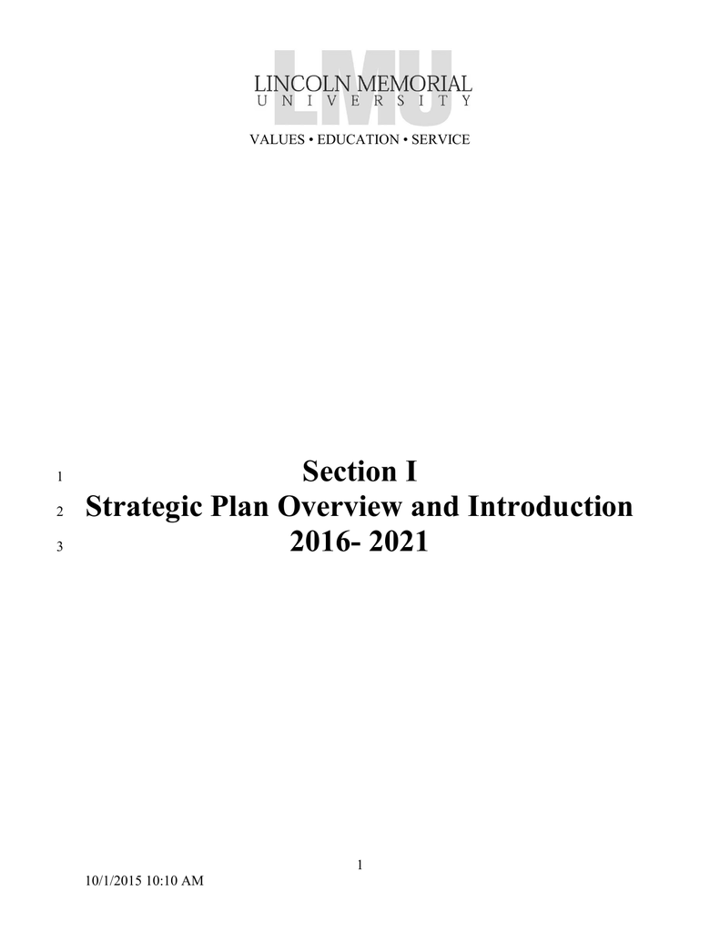 Section i strategic plan overview and introduction 2016 2021 fandeluxe Image collections