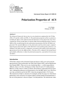 Polarization Properties of  ACS