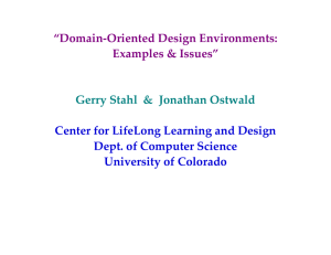 """Domain-Oriented Design Environments: Examples & Issues"" Center for LifeLong Learning and Design"
