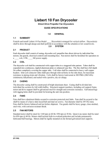 Liebert 10 Fan Drycooler