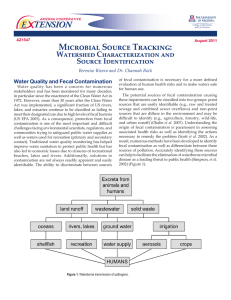 Microbial Source Tracking: E    TENSION Watershed Characterization and Source Identification
