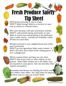 Fresh Produce Safety Tip Sheet