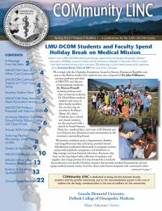 2 Lmu-Dcom Students and Faculty Spend Holiday Break on medical mission______ CONTENTS